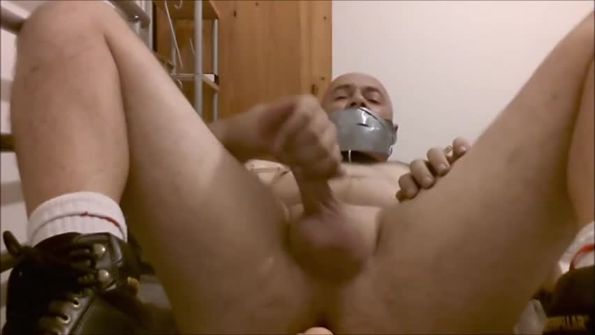 Solo. Wearing only Collar And Boots. pound Myself With A sex tool. A hardly any Pegs On My Balls cock And nipples Briefly. Gag Myself With Duct Tape T