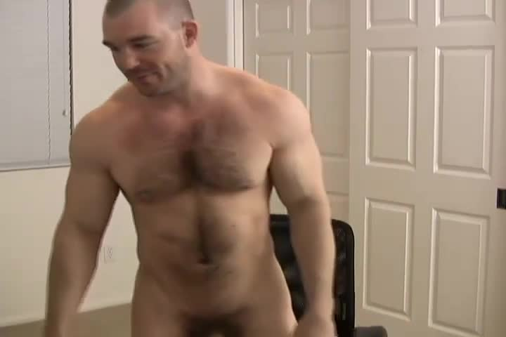 Muscle Bull Jacking Off
