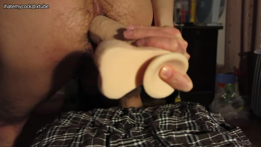 It Is awesome To see The 8 Inch dildo Go deeply Inside My butt And Reach My stomach. crave It Was A Real rod slaming Me.