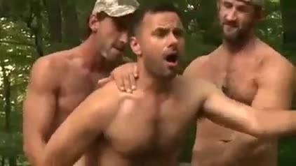 2 Army boys pounding A Civilian