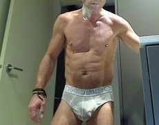 Shaving, Smoking In underclothes And Starting To get Hard
