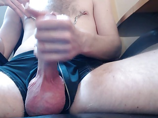 Jerking My giant cock And Balls(and A giant sex jizz  flow)