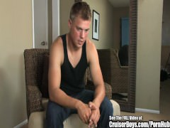 nice blonde Buff dude Masturbation Interview