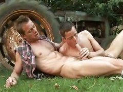 tasty Hunks hammer & suck outdoors