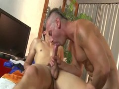 penis eating daddy pounding hellos throat with t ...