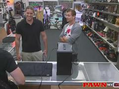 Musician fucked In Pawn Shop Inventory Room