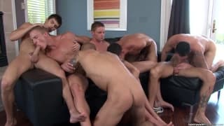 A Must see gay gangbang Session!