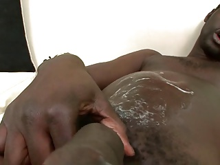 Interracial homosexual couple Jerk Each Others rods On The sofa