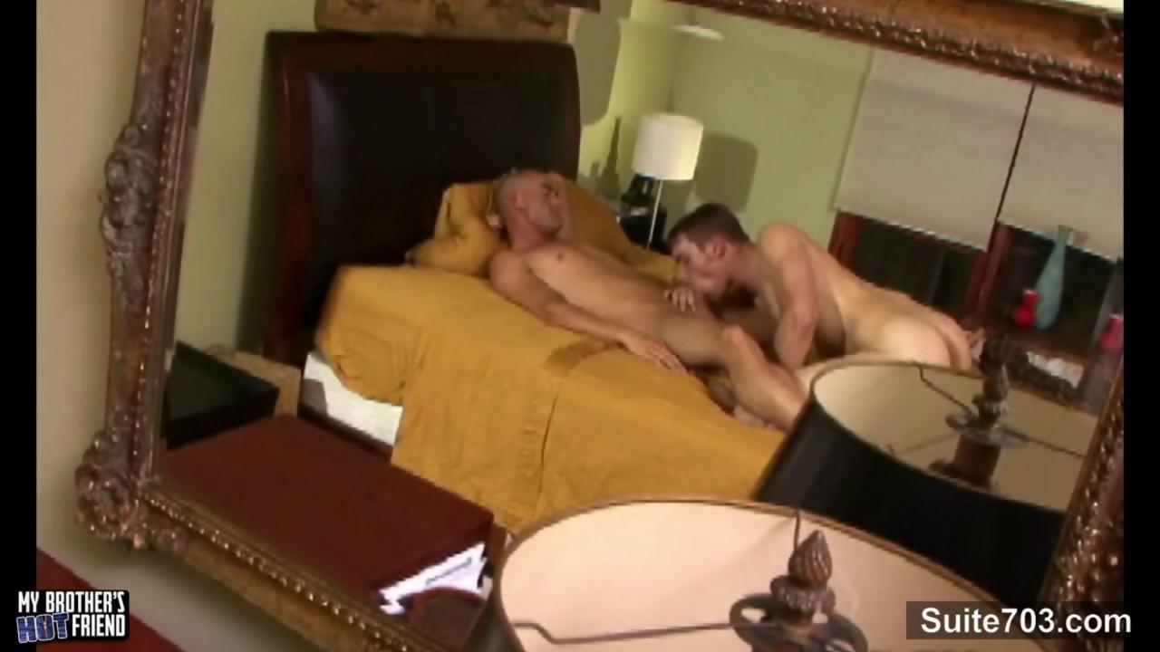 Excited homosexual gets gangbanged And Cummed