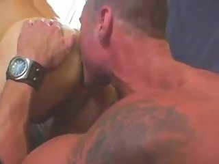 powerful 3some butthole plowing
