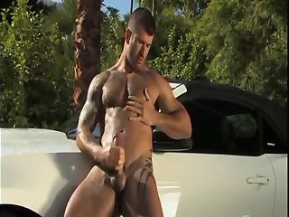 powerful dude Whacking Off Outdoor