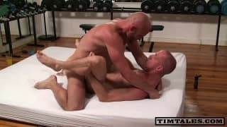 Two homo Bald guys have a pleasure Sodomy jointly