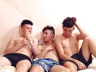 three nice-looking Romanian boys With Super stunning butts Have joy