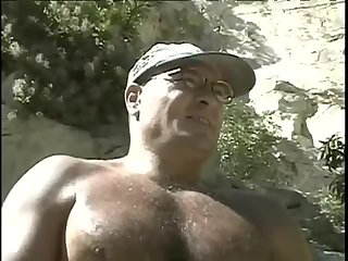 lascivious Bodybuilder Outdoor jerking off