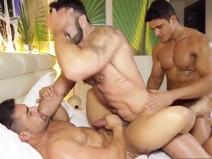 three-some Latino gays