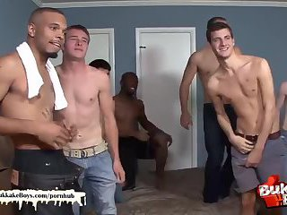 lustful chap acquires drilled In Interracial group sex