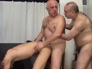 Three old homosexual studs engulf And plow