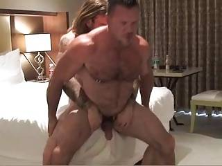 Two Muscle Daddies Flip-fuck bare