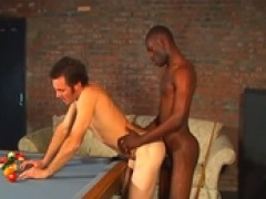juicy interracial on a pool table