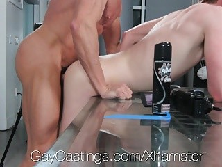GayCastings - blonde College man fucked By Casting man