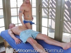 GayRoom Initimate Massage Ends In boyz fucking butt