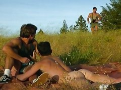 dirty Threeway Copulation Outdoor