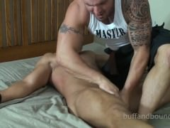 charming Bodybuilder tied And Tickled - Marky superlatively nice