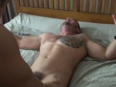 giant Blasting Muscle Hunk Boud And Tickled - Ronnie J