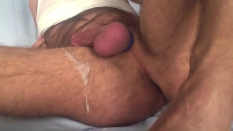 Showing My Freshly bald Balls And gap whilst Playing With My ass Beads And 8-inch fake penis. Great sperm discharged All Over My bushy Legs At The End