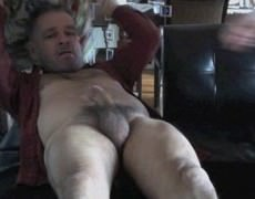 Hunky bushy poke Buddy Unloads another bare Load Of sperm Up My bare hole
