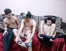 3 pretty straight Romanian boyz Go homo, Have fun On web camera, pretty asses