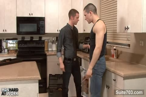homosexuals lick And poke Their booties In Kitchen