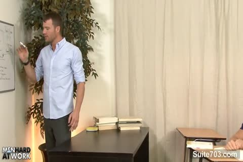 tasty homosexual males plow In A meeting At The Work