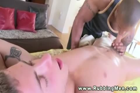 Straight Muscled Hunk Swallows wang And acquires Rammed