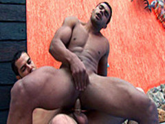 Andre Dumant In Poolside homosexual fuckfest