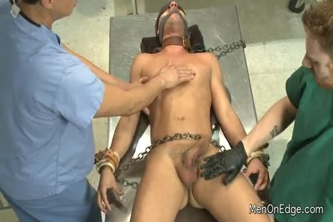 bound fellow acquires His Entire Body Fondled By The Docs