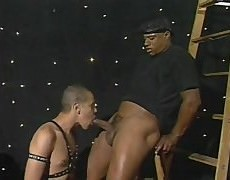 Two Well Endowed dark men receive It On.  First One sucks The Other And Then The One With The enormous 10-Pounder bangs The Other One.  One Is Dressed