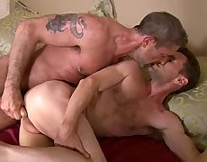 gorgeous  poke  Daddy  Top  plows  And  Dumps  His  Load  In  His  stunning  Bottoms  chap-hole