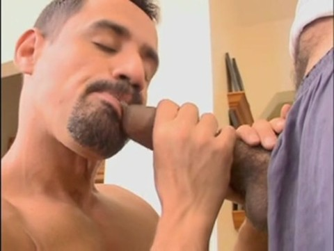 Monster wang Cums Twice From oral-service job