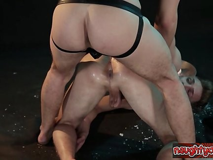 kinky twink Brutal bunch-sex
