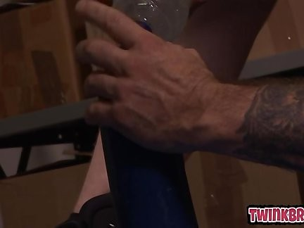 young twinks poked At Work