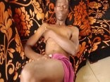 dark African teen (eighteen+) Strokes His large wang And Cums