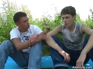 lusty males Outdoor fun