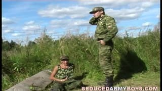 A gay Soldier Is banged By His Boss