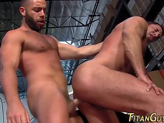 Muscled guys anal Rammed