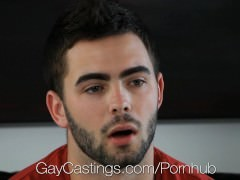 HD GayCastings - Josh hirsute arsehole Is banged By The Casting Agent