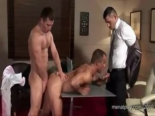 meaty males Threeway nailing