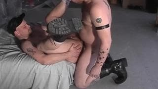 A chap With A monstrous Belly receives Sucked Off