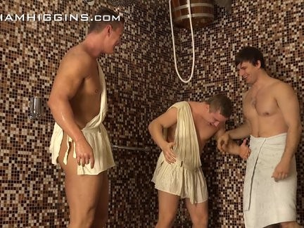 5 concupiscent Hunks Have joy In The Shower At Party