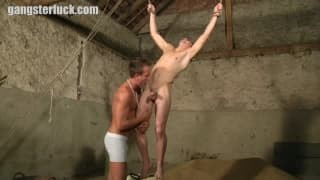 This gay Is tied Up By His friend For A bang